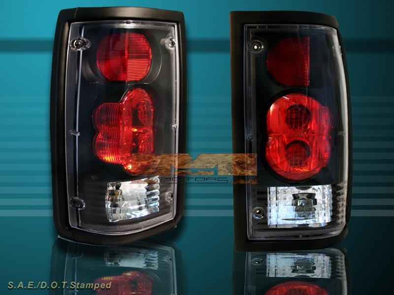 mazda b2000 vacuum hose diagram 86-93 mazda b2000 b2200 b2600 tail lights black lamps 92 ... mazda b2000 tailight wiring #9