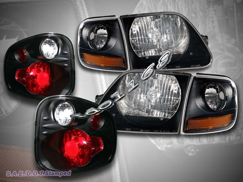2001 2003 ford f150 svt black headlights corner lights flareside tail lights ebay. Black Bedroom Furniture Sets. Home Design Ideas