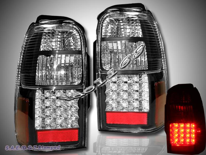 1996 2000 toyota 4runner sr5 black led tail lights new ebay. Black Bedroom Furniture Sets. Home Design Ideas