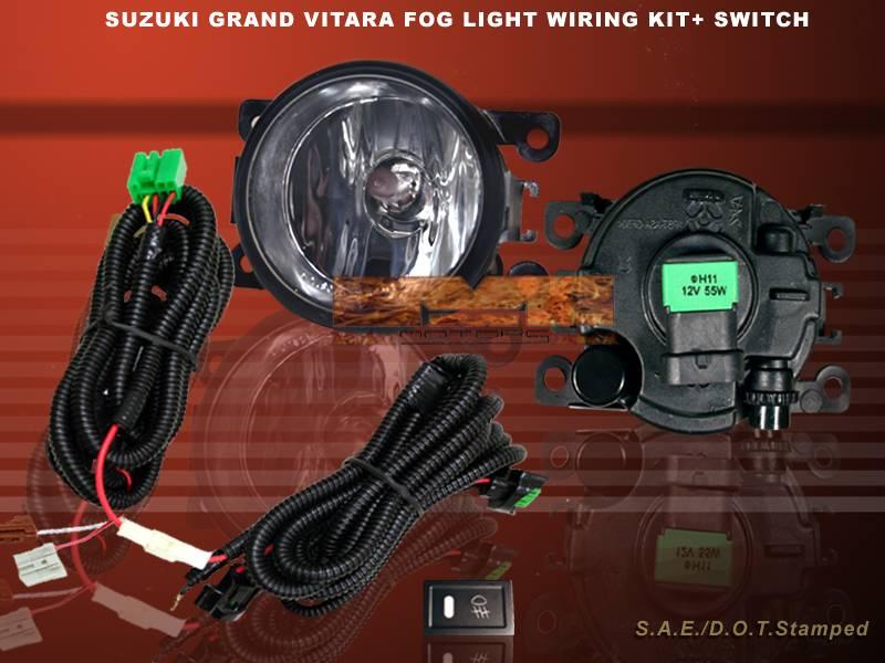 2006 08 suzuki grand vitara foglamps kit fog light with. Black Bedroom Furniture Sets. Home Design Ideas
