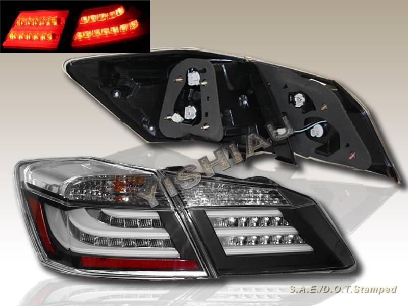 2013 2014 honda accord sedan black led bar running tail trunk lights 4 pieces ebay. Black Bedroom Furniture Sets. Home Design Ideas