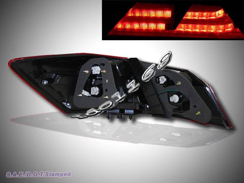 2013 2014 honda accord bmw style look red clear led tail lights 4dr sedan 4pcs ebay. Black Bedroom Furniture Sets. Home Design Ideas