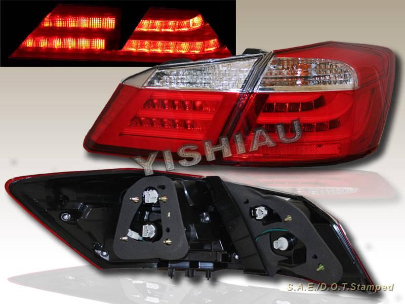 2013 2014 honda accord sedan red clear led bar running tail trunk lights 4 pcs ebay. Black Bedroom Furniture Sets. Home Design Ideas