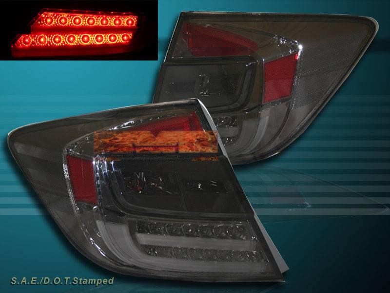 2012 Honda Civic 4 Door Sedan Led Smoke Tail Lights New Ebay