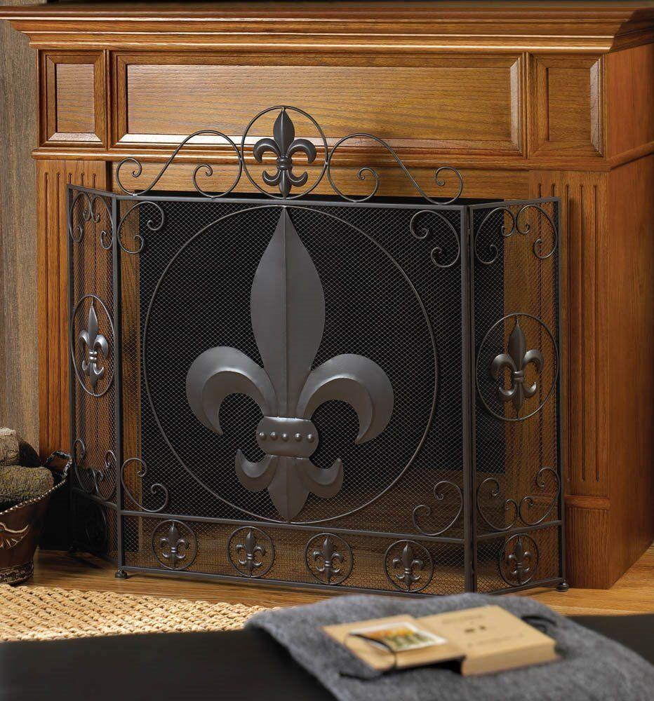 Hearth Covers: Metal Fireplace Safety Cover Panel Screen Fire Guard Mesh