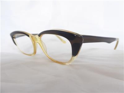 ef6537c7a3c Vintage Ladies Small Acetate CBM 1960s Frame Cats Eye Prescription ...