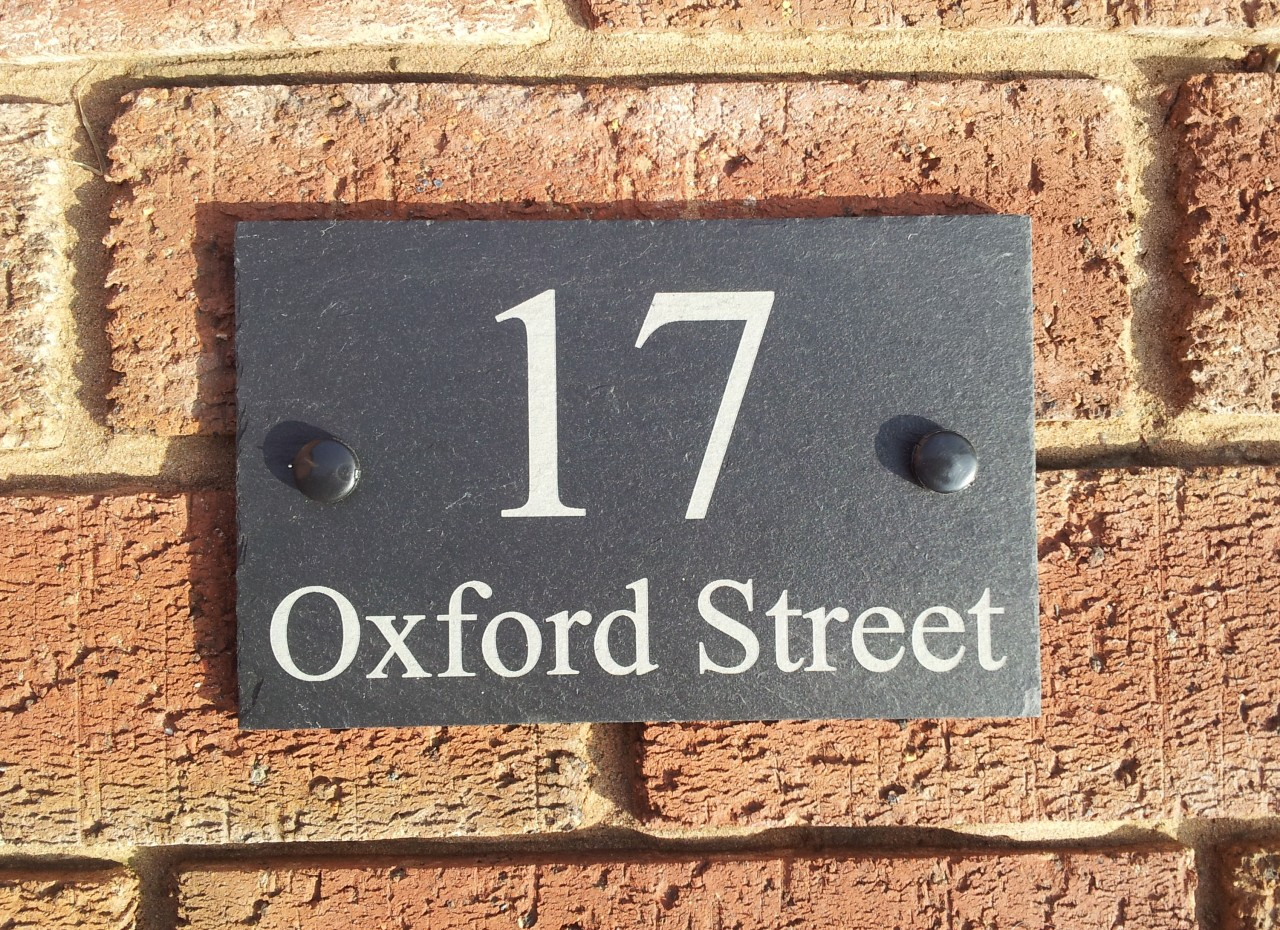 Personalised Natural Slate House Door Gate Number Sign
