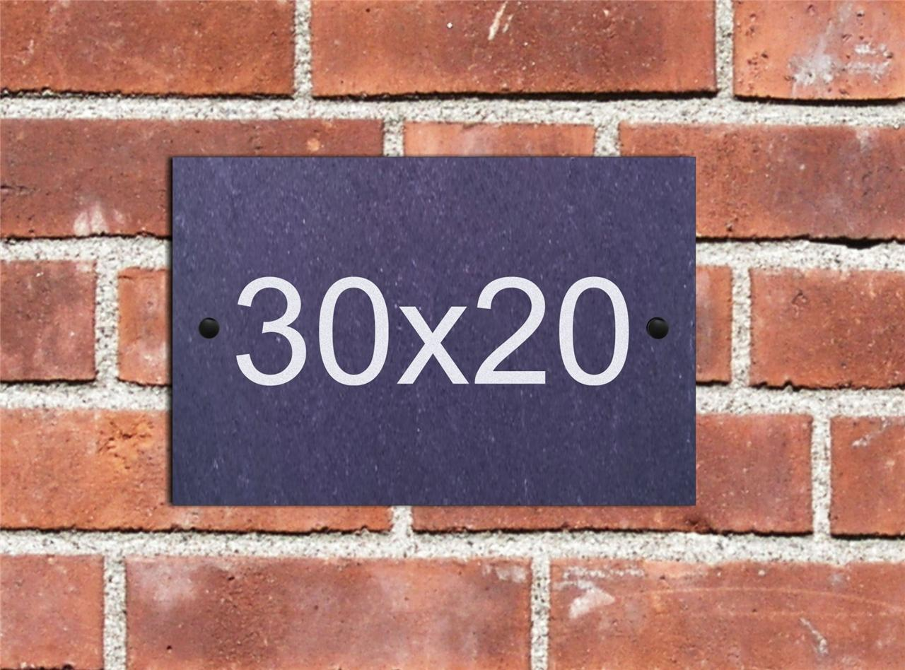 Personalised Natural Slate House Door Name Number Sign