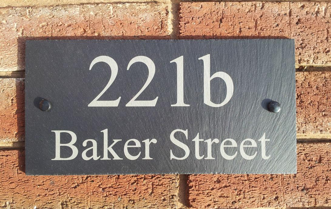 Personalised Natural Slate House Door Gate Number Address