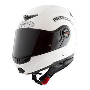 Reevu Gloss White Flip FSX1 Rear View Mirror Motorcycle Helmet ECER2205
