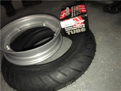 Vespa Michelin S1 Tyre Grey Rim And Tube Package 3.50x10 PX LML etc