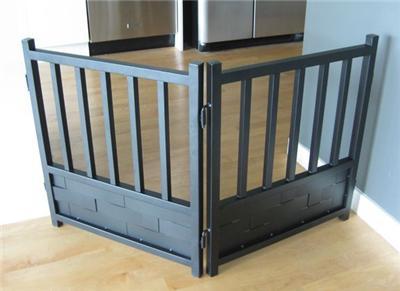 Dog Wrought Iron Freestanding Indoor Pet Gate Fence Xl Ebay