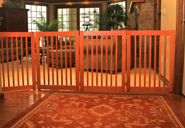 Dog Gate Wood Freestanding Indoor Barrier Large Dog 27 Quot Or