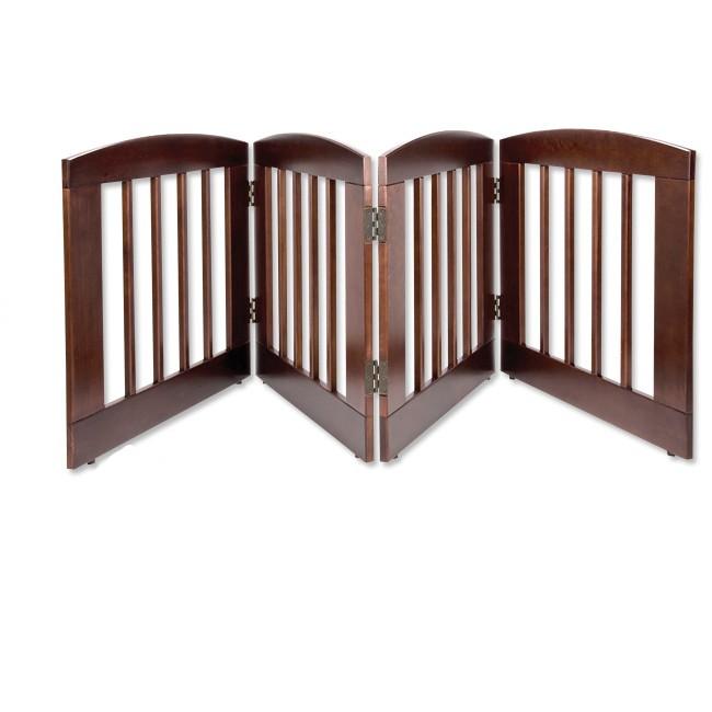 Dog Gate Wood Expandable Freestanding Adjustable Barrier