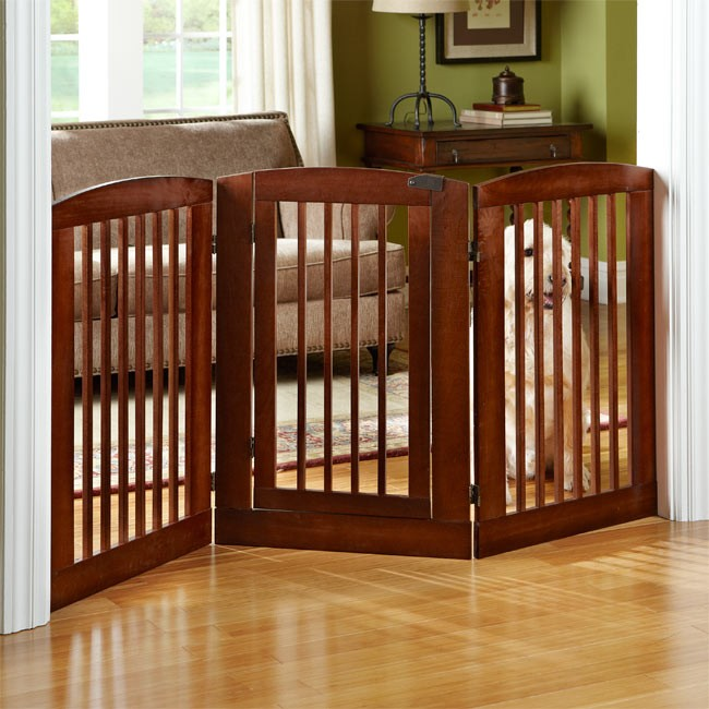 Dog Gate Adjustable Freestanding Wood Amp Wire Expandable