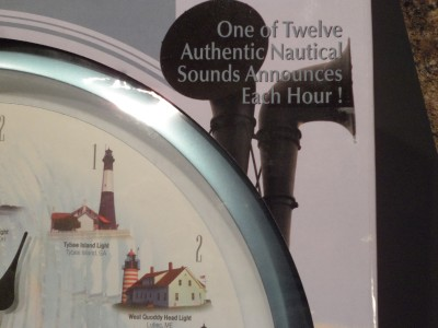 Lighthouse Sound Wall Clock Battery Operated Chimes Each