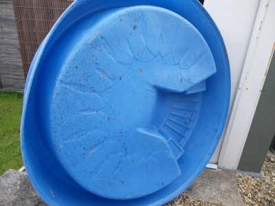 Cambs Little Tikes Solid Blue Hard Plastic Swimming Paddling Pool Slide Water Ebay