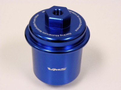 fuel filter for honda civic 96 96-00 honda civic racing high flow fuel filter blue | ebay front bumpers for honda civic ep3