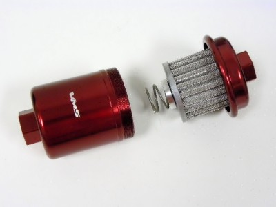 94-97 honda accord racing high flow fuel filter red | ebay 1992 honda accord fuel filter