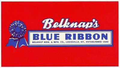 6 Vintage Unused Labels From Belknap Hardware /& Mfg Louisville Kentucky Co