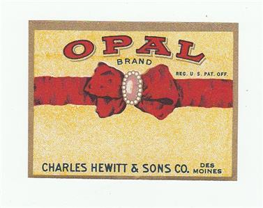 Iowa Maid Brand Jar Label Charles Hewitt /& Sons Co Des Moines Iowa