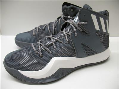 fd0084891 New Adidas B72765 Crazy Bounce Basketball Shoes Sneakers Gray White Mens  10.5