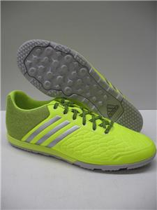 new concept f0977 59a44 Adidas B27127 Ace 15.2 CG Turf Low Cut Soccer Cleats Shoes Yellow Silver  Mens 10