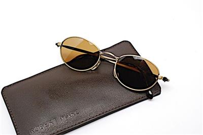 f5eae02553 CALVIN KLEIN Bronze Oval Frame Brown Lens Sunglasses - CI 550 140 ...