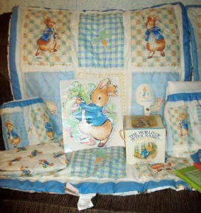 Rare Bn Ln 19 Pc Beatrix Potter Peter Rabbit Crib Bedding
