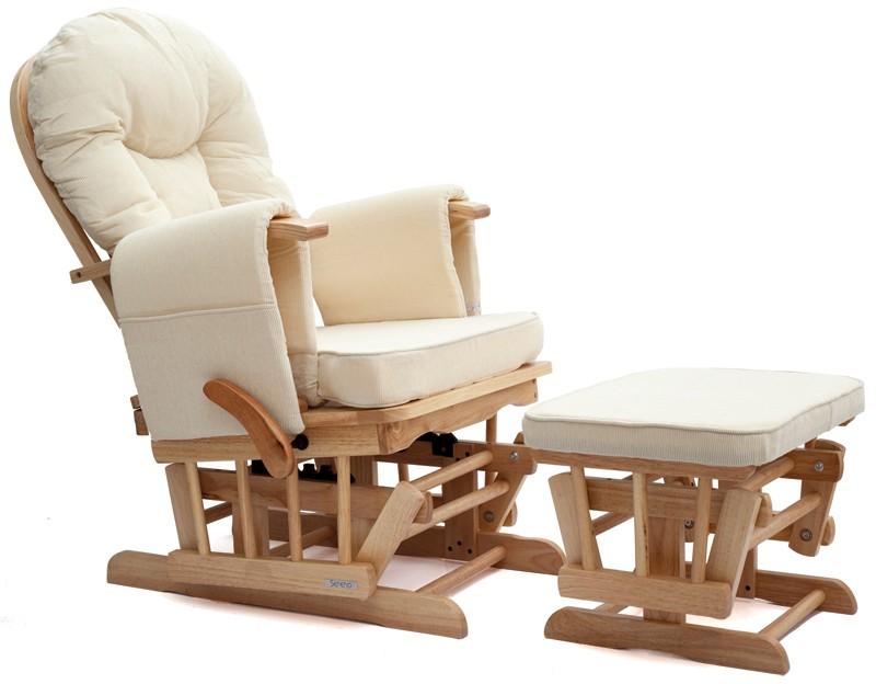 Sereno Natural Wood Or White Nursing Glider Maternity
