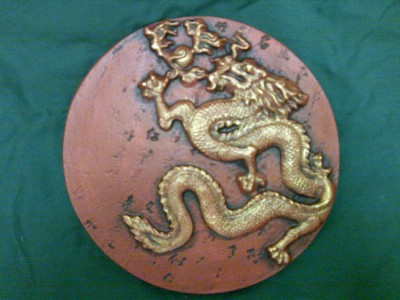Chinese Dragon Wall Plaque Stepping Garden Ornament Ebay