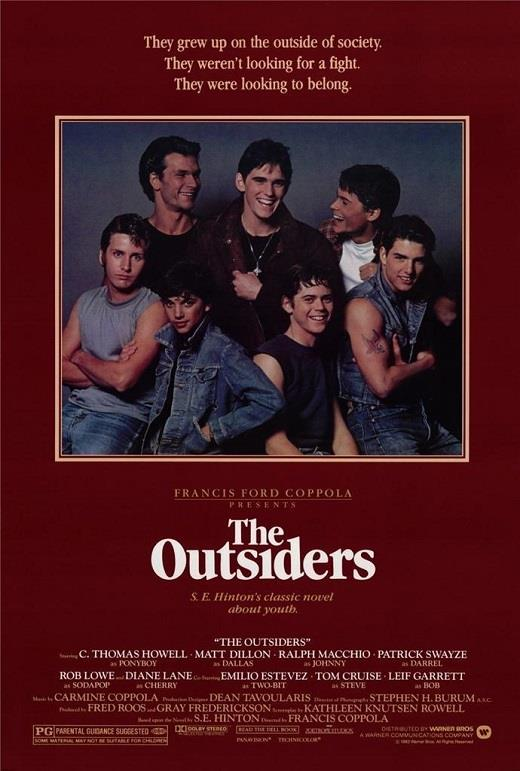 Image result for the outsiders movie poster