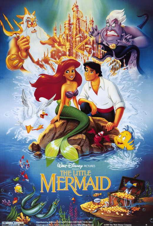 the little mermaid movie poster 27 x 40 jodi benson d licensed new