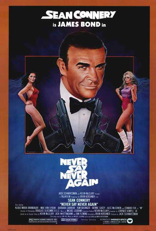 Details about Never Say Never Again Movie POSTER 27 x 40, Sean Connery, B,  LICENSED NEW