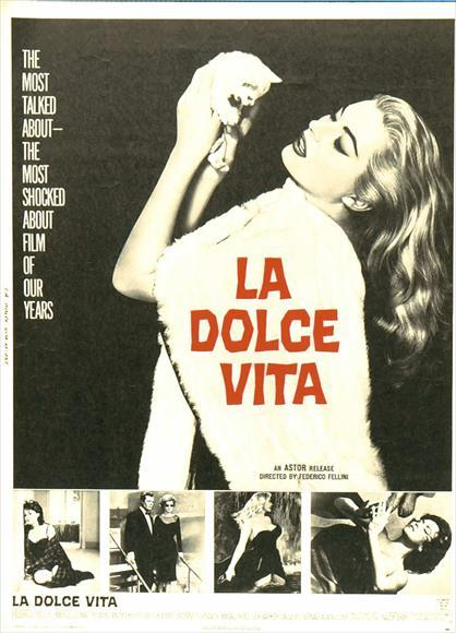 La Dolce Vita NEW Vintage Movie Film Reprint POSTER