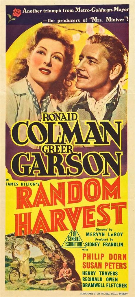 Random Harvest Ronald Colman vintage movie poster print