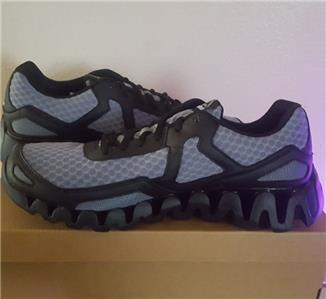 7072208fc81 New Reebok Zig Evolution Running Walking Workout Shoes Black Grey ...