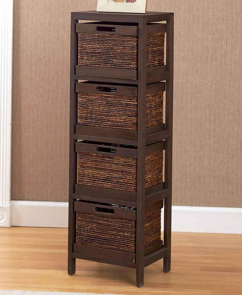 Keep Clutter Out Of Sight With This 5 Pc Storage Tower And Baskets It Adds Extra E To Your Home That Will Help You Stay Organized