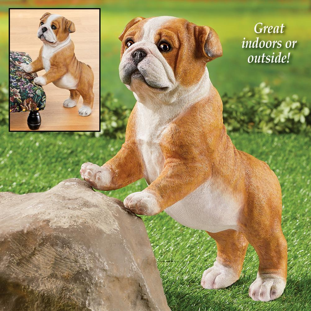 Whimsical Bobble Head Metal Dog Pound Stakes Outdoor Garden Yard Art