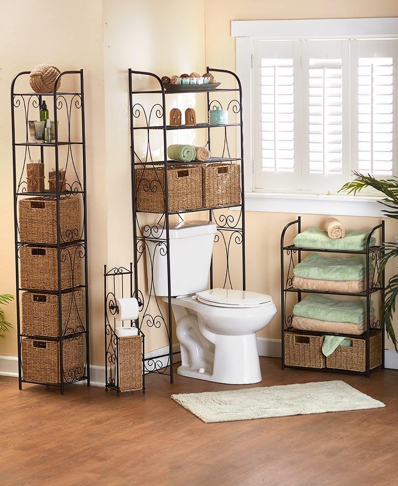 Seagrass Bathroom Storage Shelving Unit Organizer Toilet Stand Linen Rack Holder Ebay