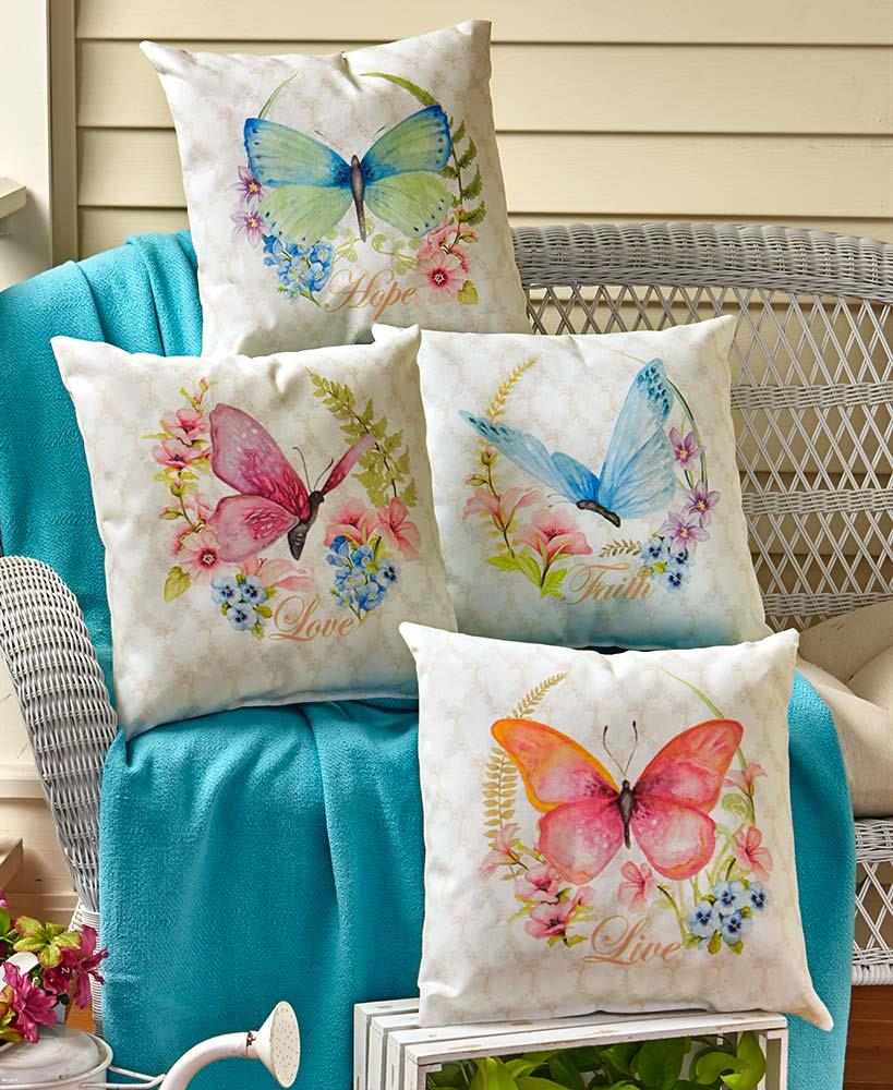 Awesome Details About 16 Butterfly Indoor Outdoor Accent Pillow Patio Sofa Bench Seat Back Cushion Evergreenethics Interior Chair Design Evergreenethicsorg