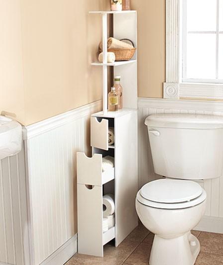 new space saving storage cabinet white wood slim storage organizer shelf ebay. Black Bedroom Furniture Sets. Home Design Ideas