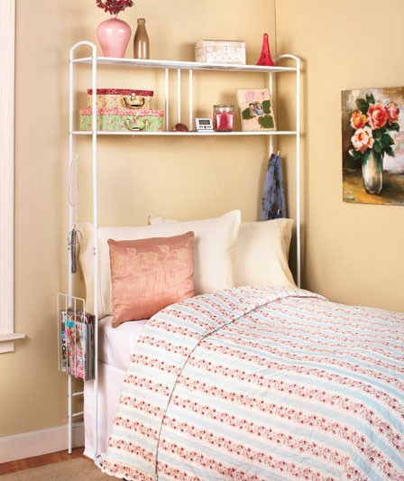New Over The Bed Storage Dorm Room Space Saver Metal Unit