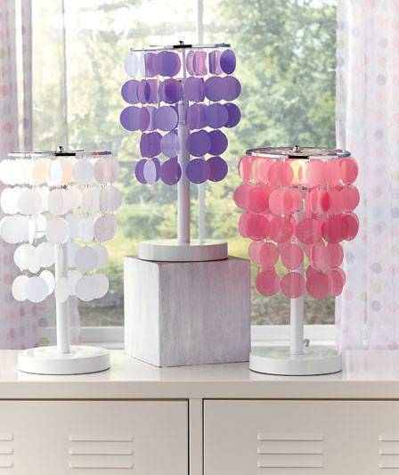 NEW Colorful Accent Table Lamps Teens or Tweens Room Decor ...