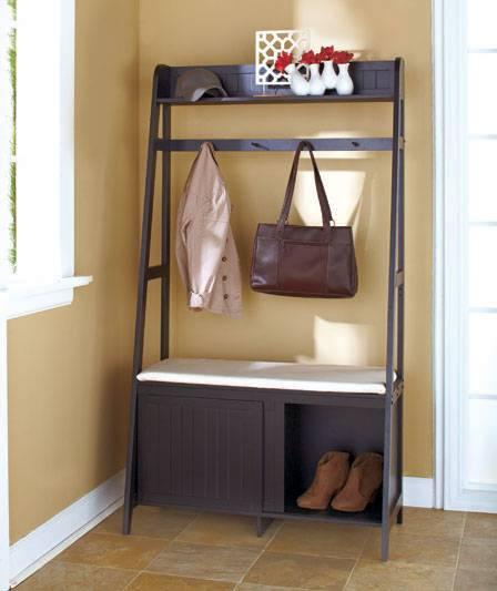 Coat Rack With Shoe Storage: NEW Entryway Organizer Bench Seat Coat Rack Shoe Storage