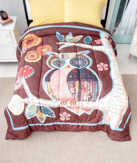 New Trendy Owl Friend Bedroom Comforter Twin Or Full