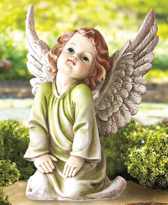 Add A Bit Of Serenity To Your Outdoor Decor With The Angelic Garden Statue.  This Intricately Detailed Cherub Is A Lovely Addition To Any Outdoor Or  Memorial ...