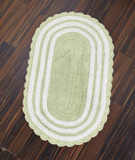 Description Brand New Reversible Cotton Bath Rug Set Sage Green