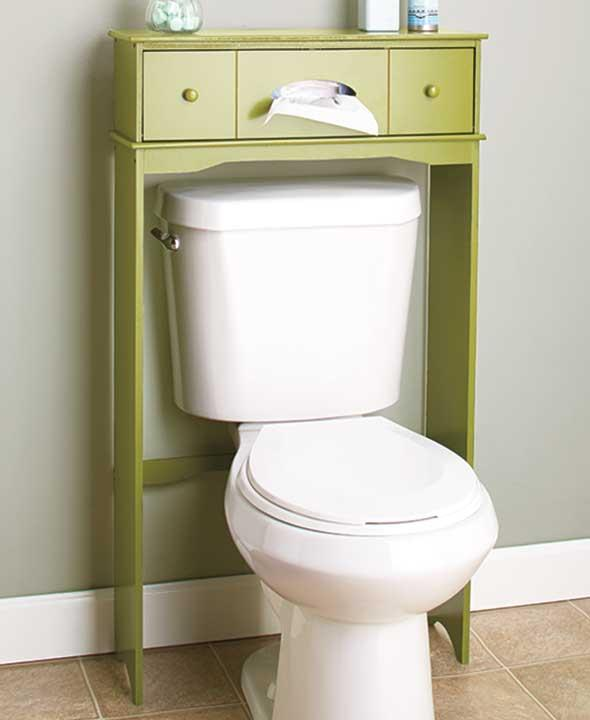 Wooden Bathroom Organizer: NEW Bathroom Wood Over The Toilet Table Cabinet Space