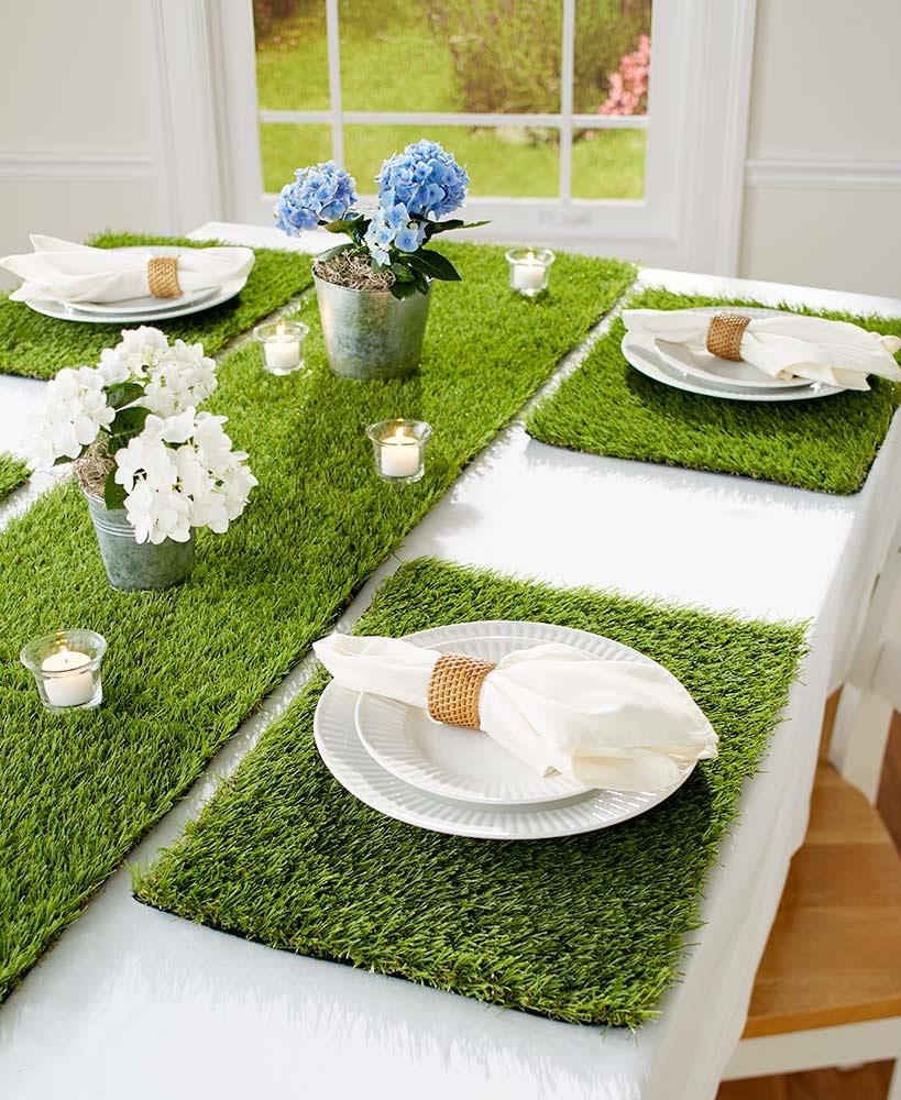 easter spring lush grass dining table placemats or 72. Black Bedroom Furniture Sets. Home Design Ideas